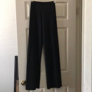 Simple black jazz pants